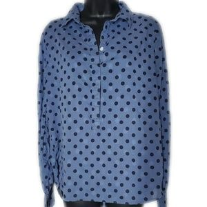 J. Crew Polka Dot Blouse Size Medium